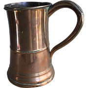 Antique English Georgian copper tankard circa 1810