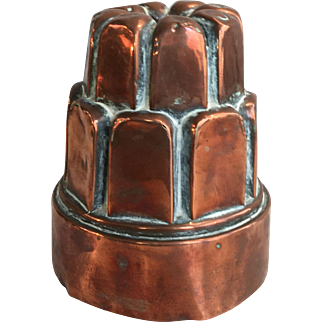 Antique Victorian copper jelly pudding cake mould G&H 147