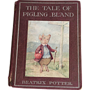 Antique Beatrix Potter book Tale Pigling Bland genuine first 1st edition 1913