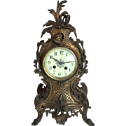 Antique French bronze mantel clock ornate Baroque style Napoleonic era