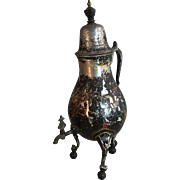 Antique 18th Century Dutch pewter painted wine dispenser
