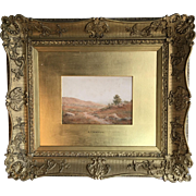 Antique framed landscape watercolour painting by RT Minshull