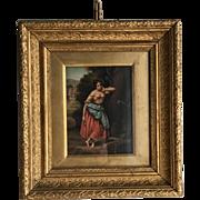 Antique 18th Century Continental portrait in oil