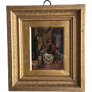Antique 18th Century Continental portrait in oil no 2