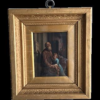 Antique 18th Century Continental portrait in oil no 3