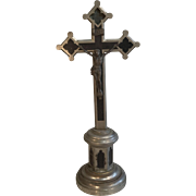 Antique French Gothic Crucifix