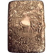 "Ornate Antique Dutch Silver Repousse"" Calling Card Case"