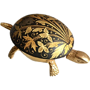 Art Nouveau Damascene BOJ Turtle Hotel Bell circa, crafted in Spain