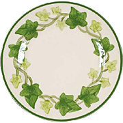"Franciscan Green Ivy ""I Love Lucy"" 13 7/8"""" Large Round Platter/Chop Plate Mid Century Modern"