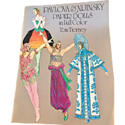 Pavlova & Nijinsky Vintage Paper Doll Book by Tom Tierney, Uncut, Published in 1981