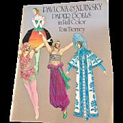 Pavlova & Nijinsky Vintage Paper Doll Book by Tom Tierney, Uncut, Published in 1981