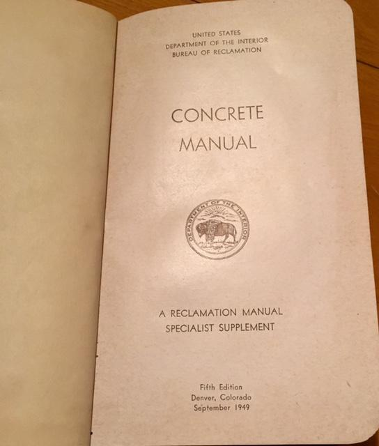 Concrete manual us dept of interior bureau of reclamation 5th from art and found in america on - Us bureau of reclamation ...