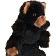 Mink Teddy Bear of Genuine Dyed Ranch Raised Mink, made in Hong Kong, circa early 1980's.