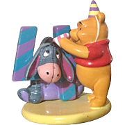 Disney Pooh and Friends Birthday Series 4 Year Keepsake/Pooh & Eeyore Ceramic , with original tag