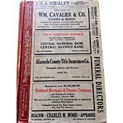 Polk's Oakland Directory 1926 Vintage Phone Book