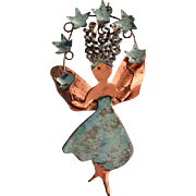 Copper Handcrafted Dancing Fairy Wall Sculpture