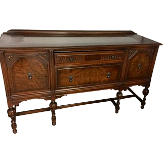 Berkey and Gay Walnut Tudor Credenza/ Sideboard/ Buffet
