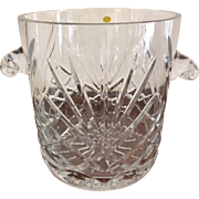 Traditional Cut Crystal Ice Bucket, Pineapple Cut circa 1970's, made in Poland