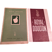Two Rare 1940's Royal Doulton Publications - Royal Doulton Figurines Collectors Book No 1, The Symbol of Royal Doulton