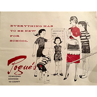 Pogue's Children's Clothing Catalog - Cincinnati's Premier High End Store  from the late 1950's