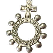 WW2 Era Italian Rosary Ring also known as the Soldier's Rosary