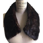 Natural Ranch Mink Collar, Lined with Taffeta, circa 1950's.