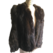 Natural Ranch Mink Cape Lined in Satin