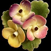 Cara China Floral Brooch/Pin, Staffordshire, England
