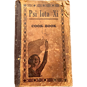 1930's Psi Iota Xi Sorority Cook Book with handwritten added recipes