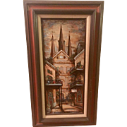 George Grunblatt Original Oil Painting, Jackson Square  New Orleans, Louisiana
