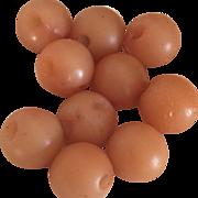 Set of 10 Round Bakelite Buttons in Dusty Beige