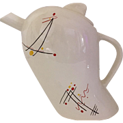 Sleek Rare Graphics Modern Swineside Teapot from England