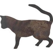 Late 19th Century - Early 20th Century Primitive Metal Cat Silhouette Barn Decor from Upstate New York