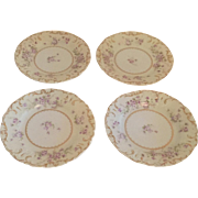 Set of 4 Old Ivy Germany Butter Plates, early 20th Century