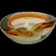 Sommerso Mid Century Murano Bowl from Seguso Vetri d'Arte