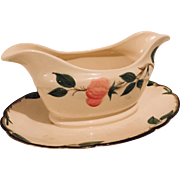 Franciscan Desert Rose Gravy Boat with Underplate, circa 1940s