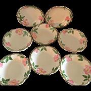 Franciscan Desert Rose Set of 8 Fruit Bowls, Circa 1940s