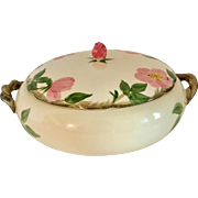 Franciscan Desert Rose Covered Vegetable Casserole Serving Dish, circa late 1940s - early 50s