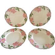Set of 4 Franciscan Desert Rose Dinner Plates, circa 1950s