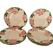 Franciscan Desert Rose Set of 8 Dinner Plates, circa 1942 - 47