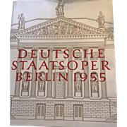 Deutsche Staatsoper Berlin 1955 ,  First Edition in German