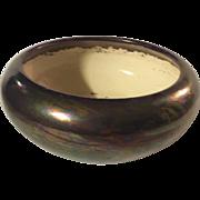 Weller Low Bowl Planter in Copper Metallic Iridescent Glaze