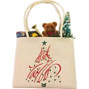 Lord and Taylor Vintage Shopping Bag Christmas Ornament filled with Cheer!