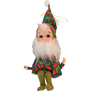 Vintage Bearded Pixie/Elf  Shelf/Branch Sitting Ornament from Japan