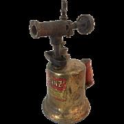 Vintage Industrial Otto Bernz Brass Hand Held Blow Torch
