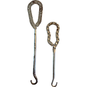 Victorian Button Hooks Walk-Over Polishes & Laces Advertising Hook and Short Glove Hook