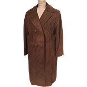 Melba Hobson Suede Car Coat Brentshire Designer Collection Montgomery Ward 1960s