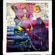 Maria Beine-Hager (German, 1919-1991): Trio. c.1965, Color Linocut on Vellum