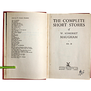 W. Somerset Maugham Inscribed Vol. 3 of his Complete Short Stories