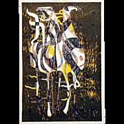 Tadashi Nakayama: Afternoon Horse. 1963, Japanese Woodblock Print